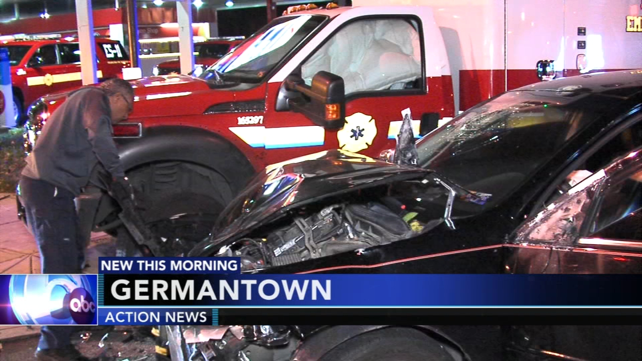 3 injured after car slams into medic truck in Germantown. Gray Hall reports during Action News at 6 a.m. on October 13, 2018.