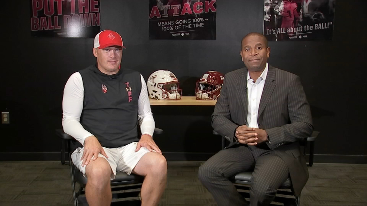 Temple Football Playbook with Ducis Rodgers and Coach Collins during Action News at 9 a.m. on October 13, 2018.