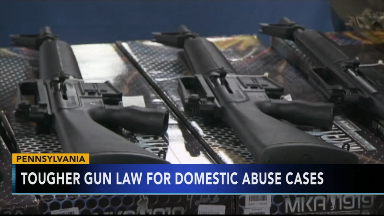 Governor Wolf signs tougher rules for guns in domestic violence cases. Gray Hall reports during Action News at 6 a.m. on October 13, 2018.