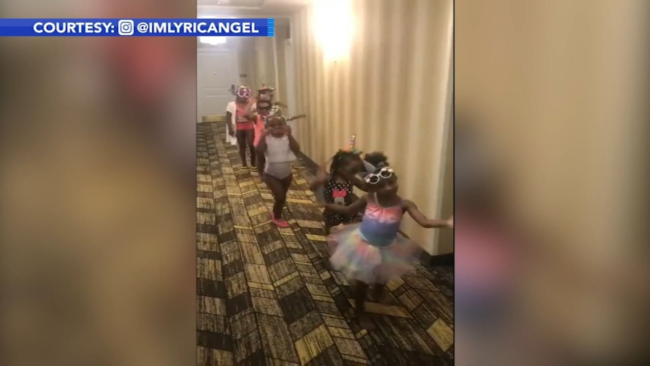 Adorable girl squad goes viral for sashaying their way to the pool. Gray Hall reports during Action News at 10 a.m. on October 14, 2018.