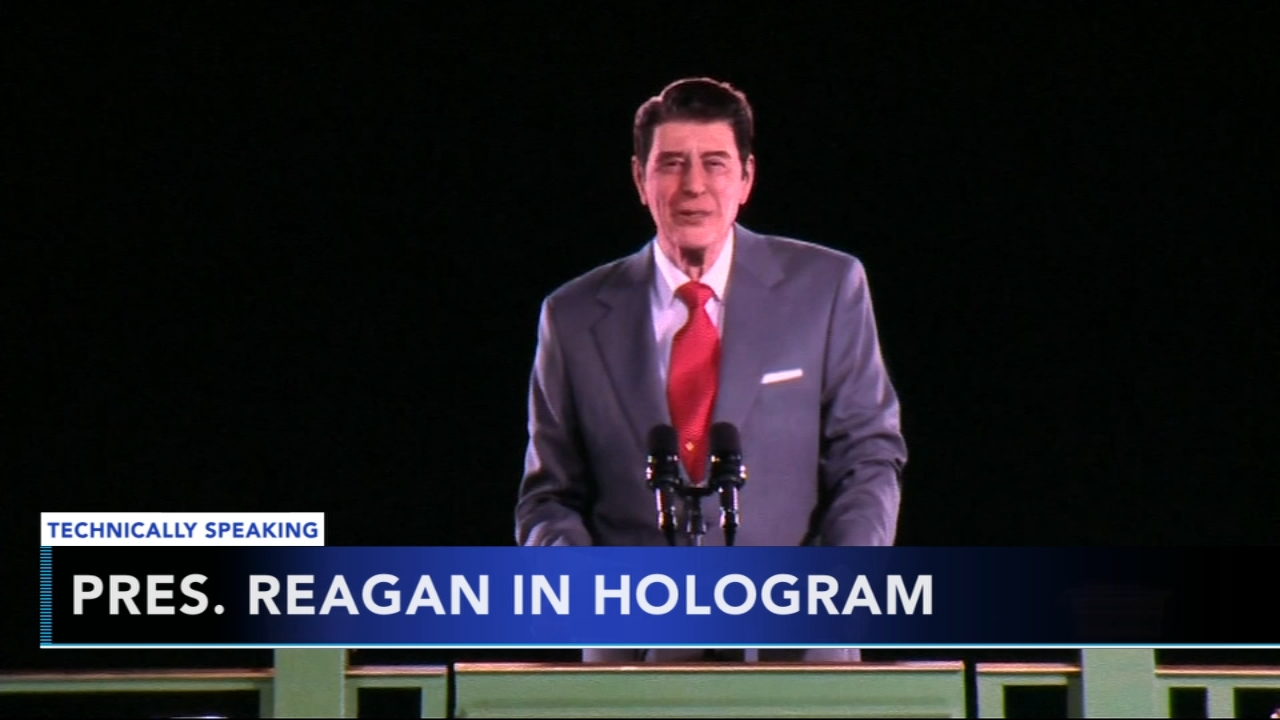 Library unveils 3D hologram of Ronald Reagan. Nydia Han reports during Action News at 9 a.m. on October 14, 2018.
