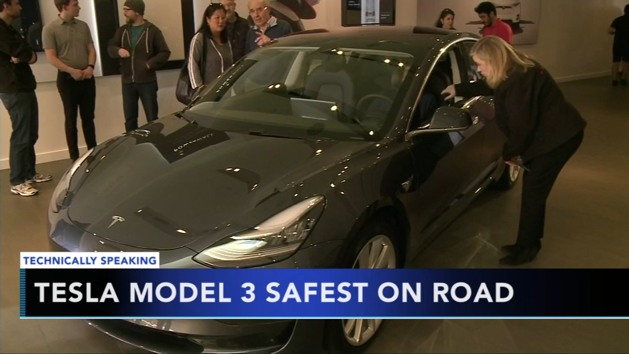Teslas Model 3 named safest car ever made. Nydia Han reports during Action News at 9 a.m. on October 14, 2018.
