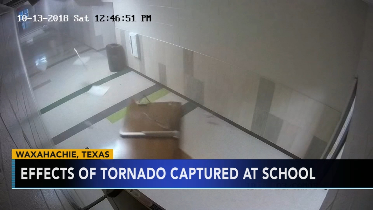 Tornado damages school, leaves path of destruction in Texas. Nydia Han reports during Action News at 6 a.m. on October 14, 2018.