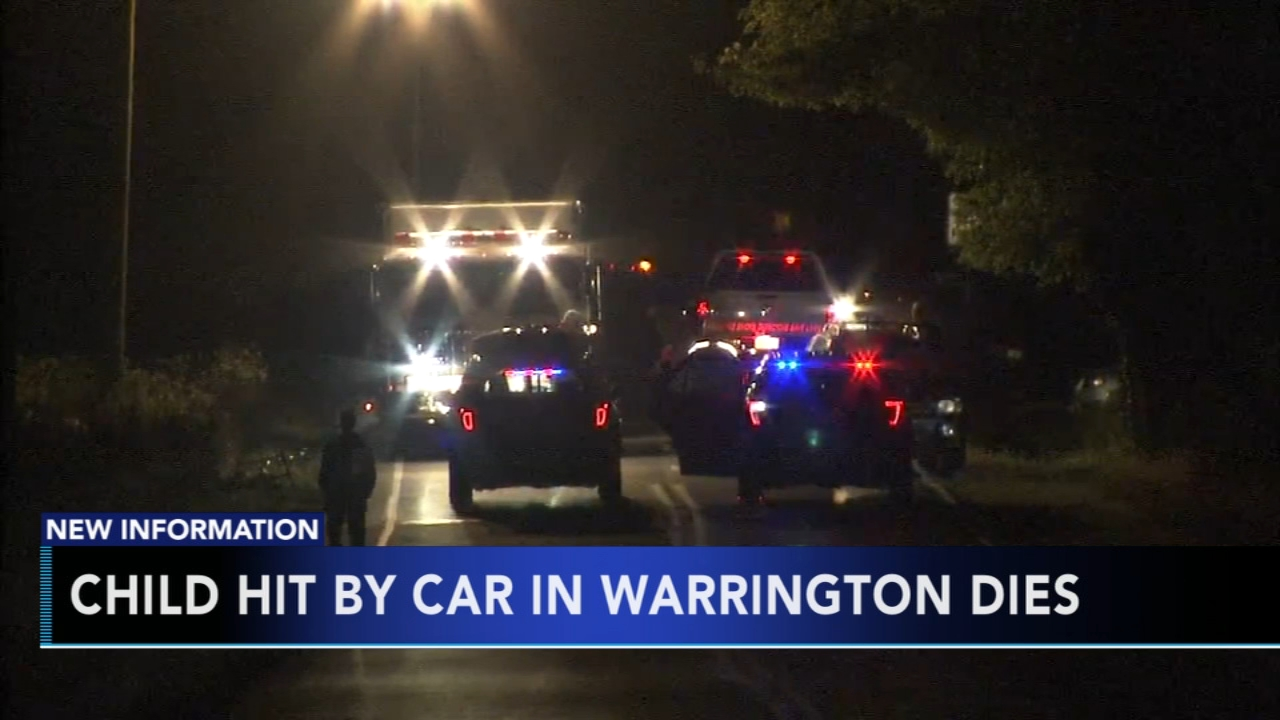 Child dies after being hit by car in Bucks County. Gray Hall reports during Action News at 7 a.m. on October 14, 2018.