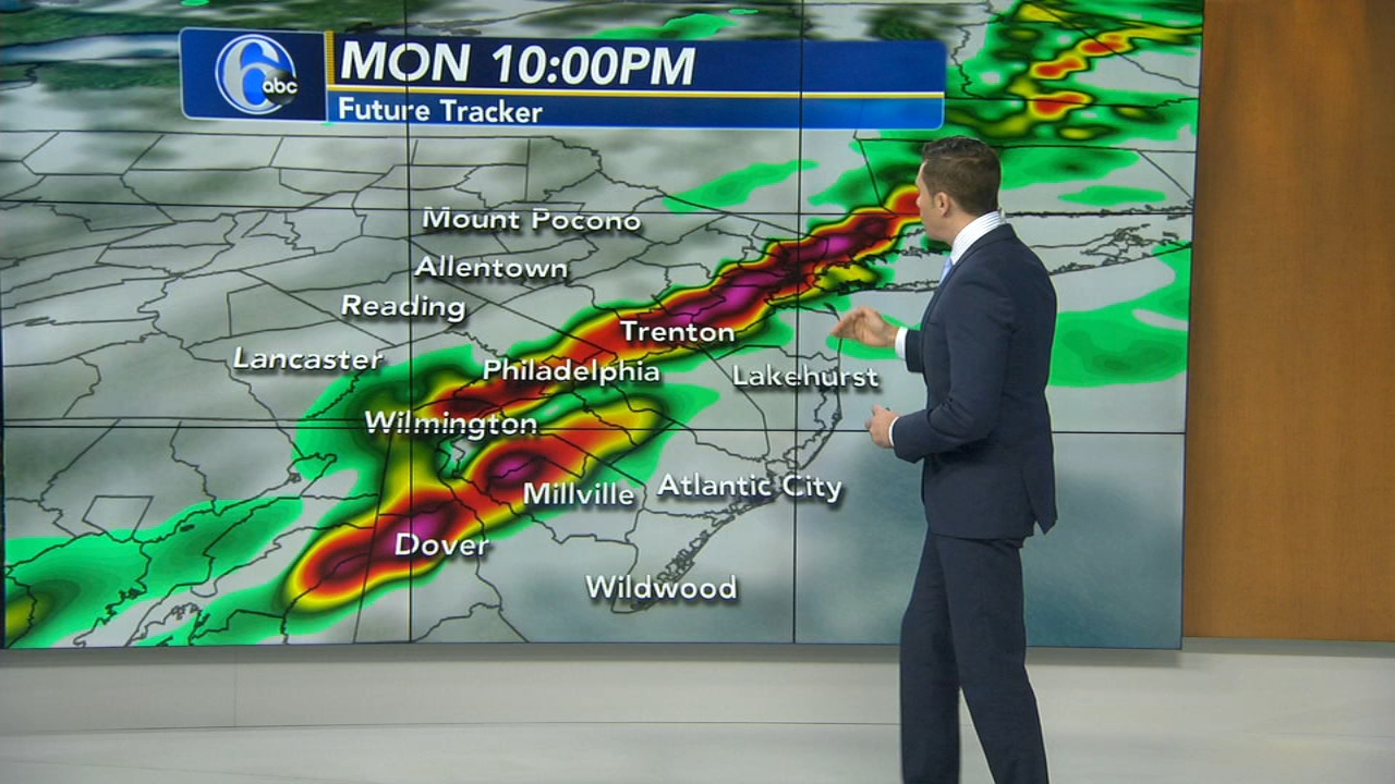Adam Joseph with AccuWeather during Action News at 4pm on October 15, 2018.