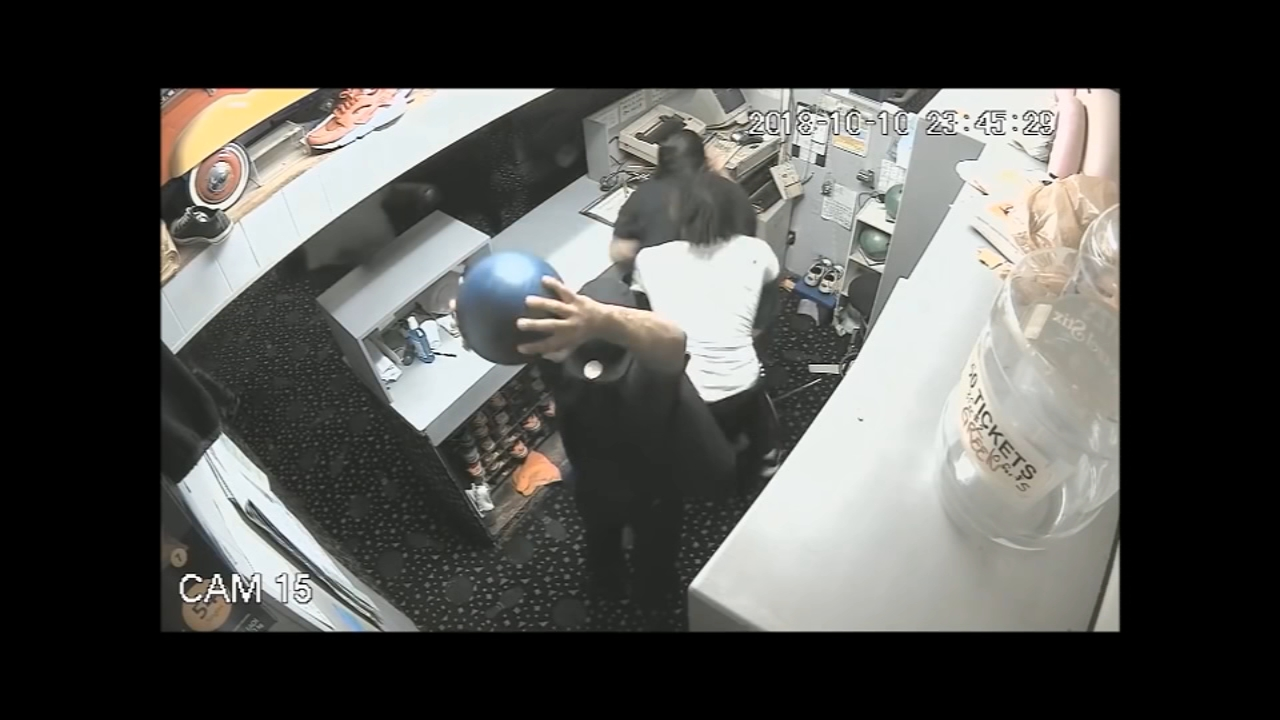 Bowling ball thrown on head of worker in violent assault. Watch the video from 6abc.com on October 15, 2018.