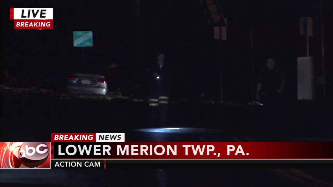 Driver crashes in Lower Merion, Pa. Karen Rogers reports during Action News Mornings on October 15, 2018.