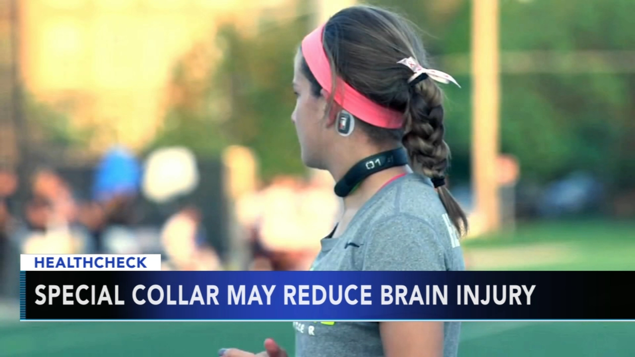 Special neck collar may reduce brain injury in student athletes - Monica Malpass reports during Action News at 5pm on October 15, 2018.