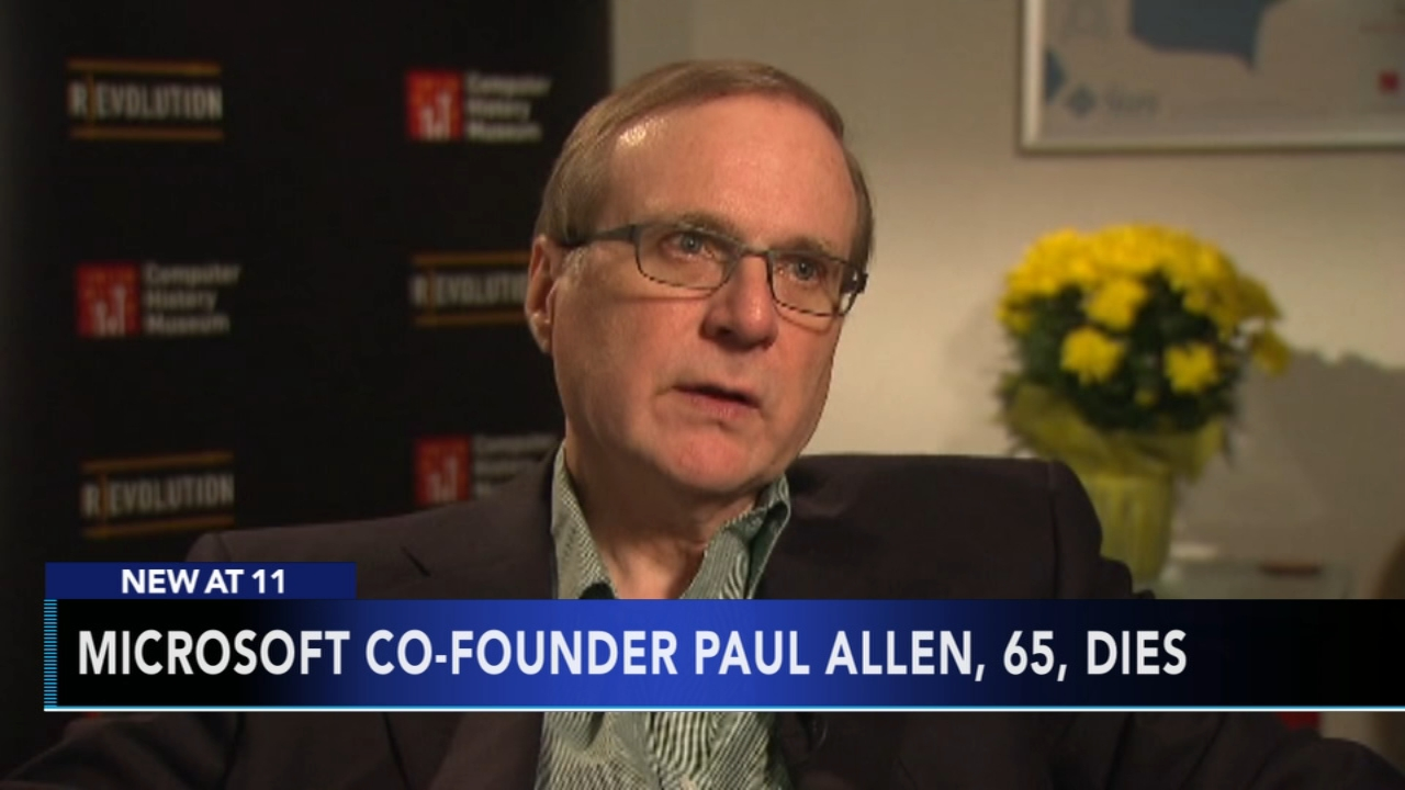 Paul Allen, who co-founded Microsoft  has died as reported during Action News at 11 on October 15, 2018.