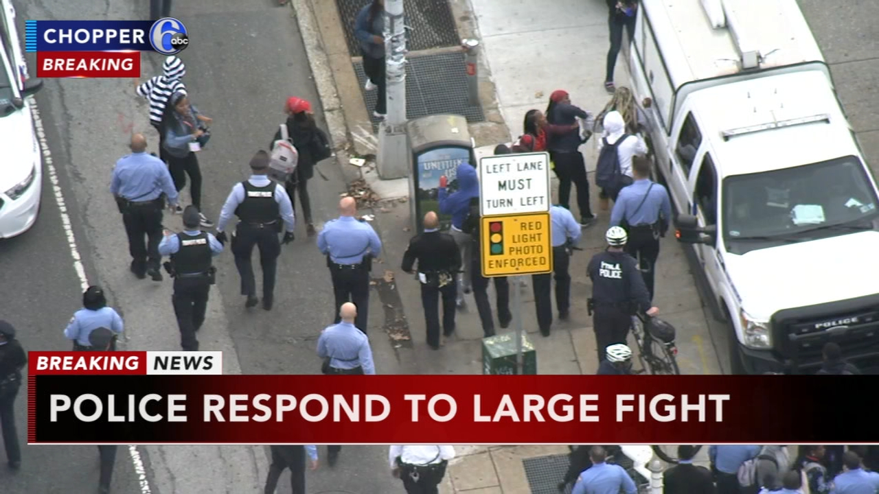 Police respond to large fight on Broad Street: as seen on Action News at 4 p.m., October 16, 2018