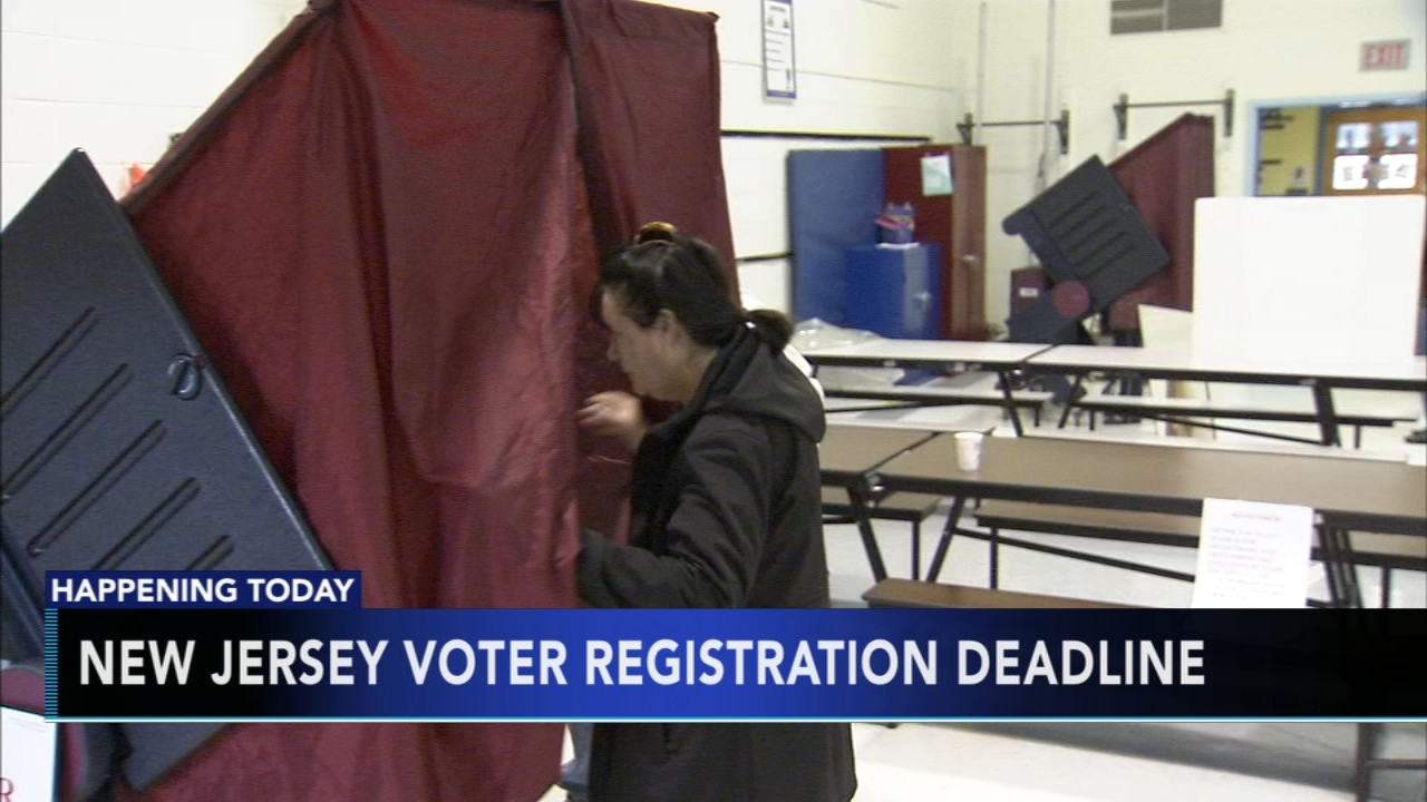 New Jerseys voter registration deadline is Tuesday. Tamala Edwards reports during Action News Mornings on October 16, 2018.