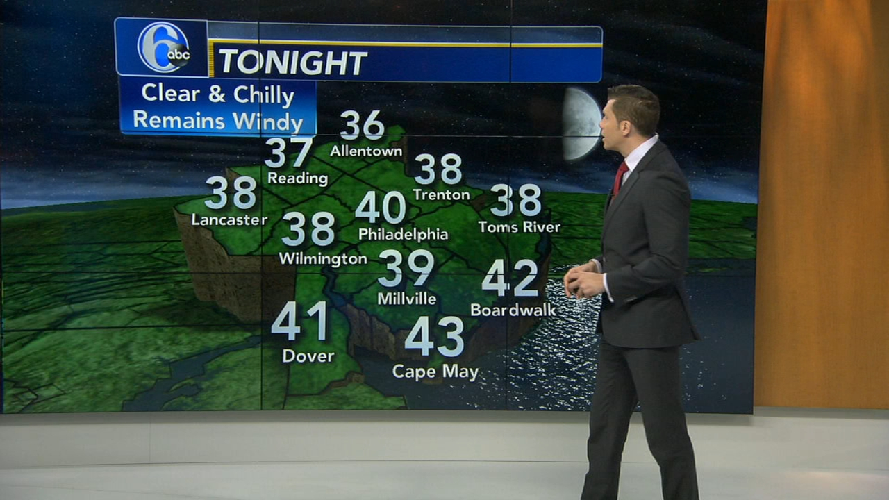Adam Joseph reports on AccuWeather during Action News at 4 p.m. on October 17, 2018.