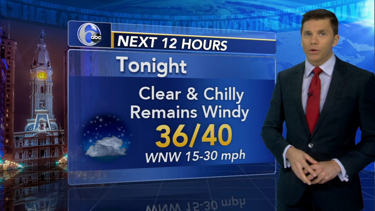 Adam Joseph reports on AccuWeather during Action News at 6 p.m. on October 17, 2018.