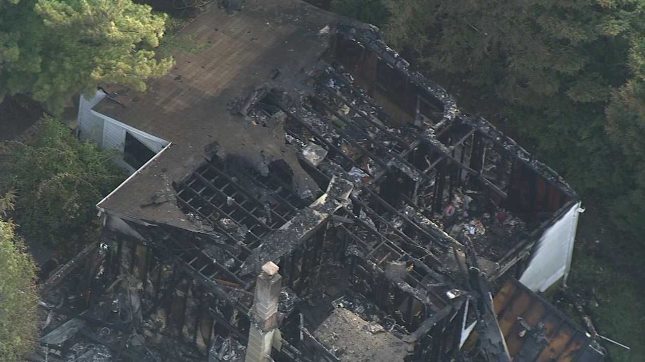 Chopper 6: Damage from Browns Mills fire on October 17, 2018.