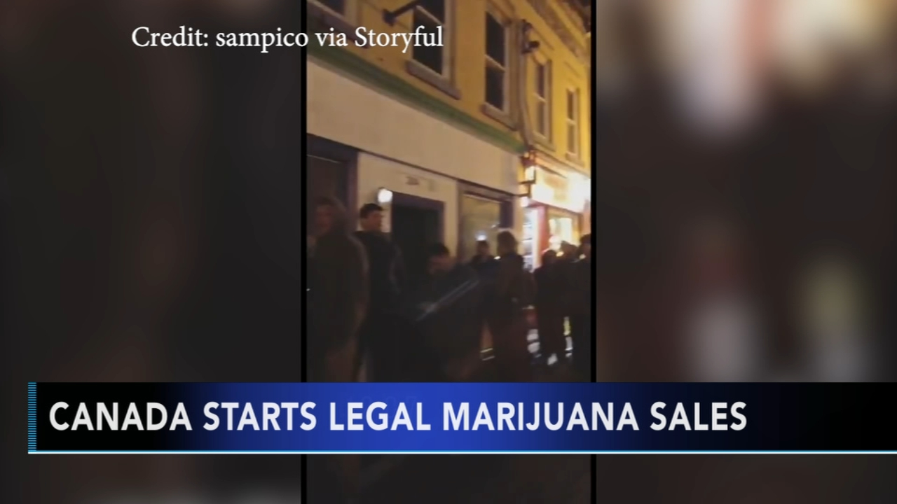Canada starts legal marijuana sales. Matt ODonnell reports during Action News Mornings on October 17, 2018.