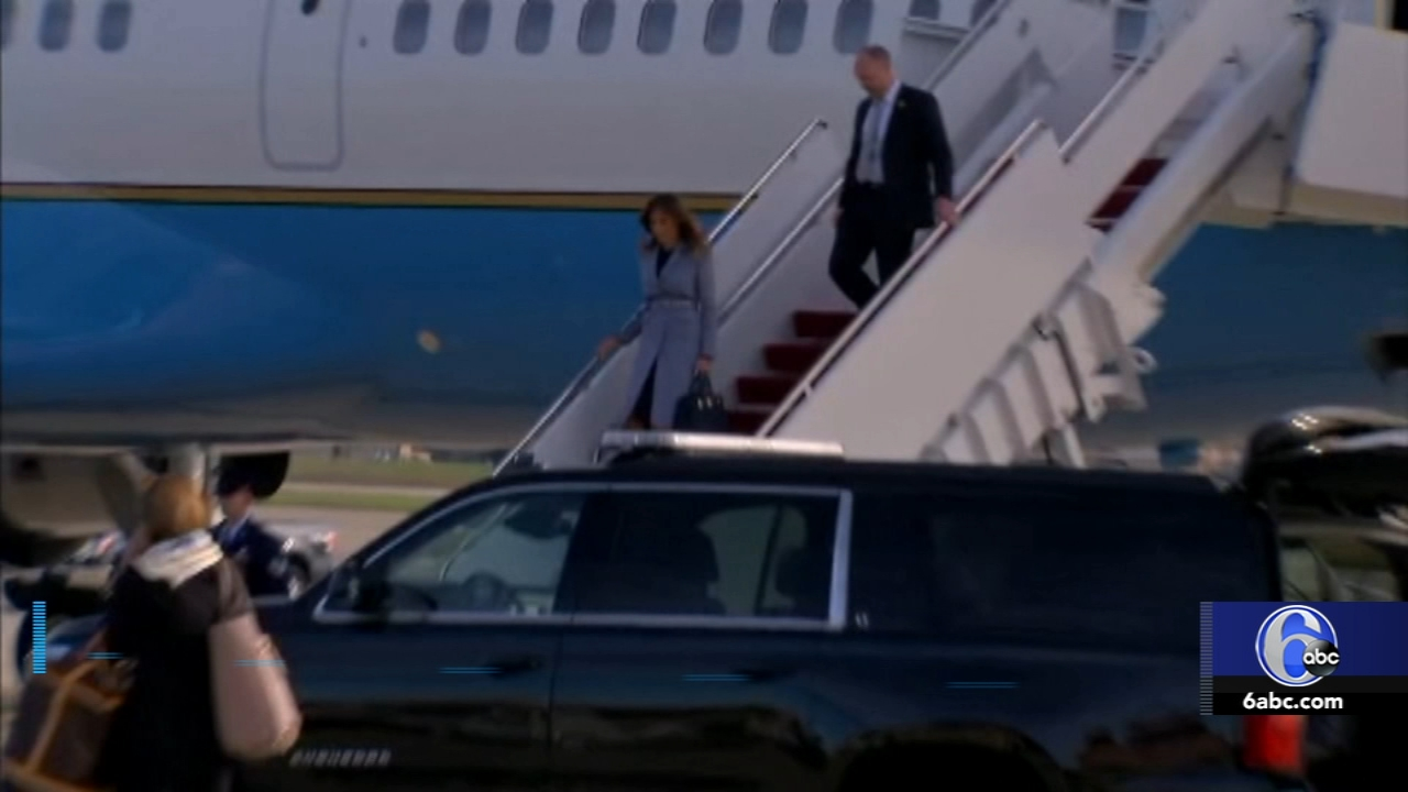 Melania Trumps plane forced to return. Matt ODonnell reports during Action News Mornings on October 17, 2018.