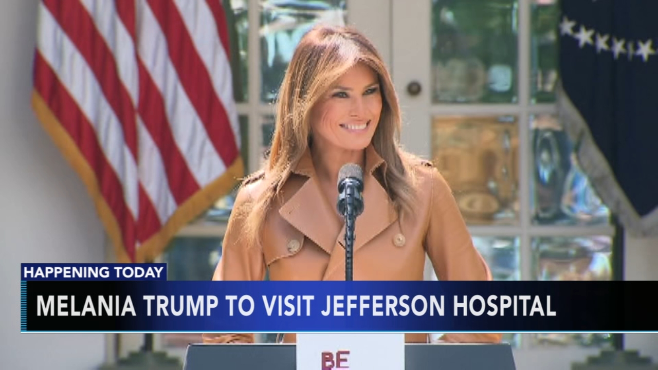 Melania Trump to visit Jefferson University Hospital. Tamala Edwards reports during Action News Mornings on October 17, 2018.