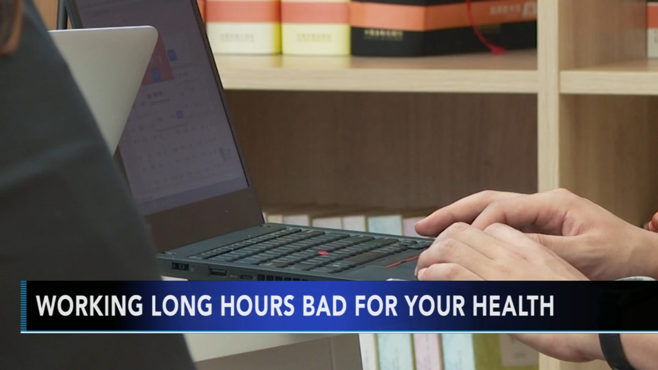 Study: Working long hours bad for your health. Matt ODonnell reports during Action News Mornings on October 17, 2018.
