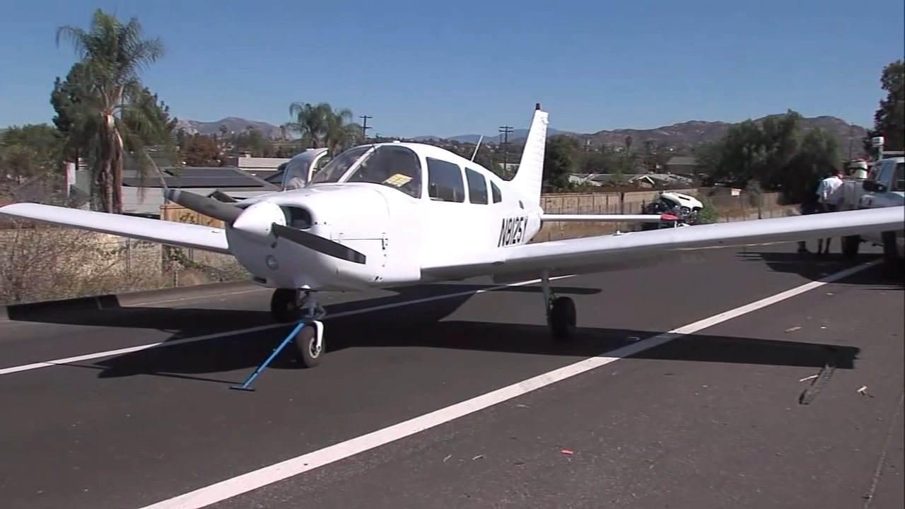 Plane makes emergency landing on Southern California freeway. Gray Hall reports during Action News at 6 a.m. on October 20, 2018.