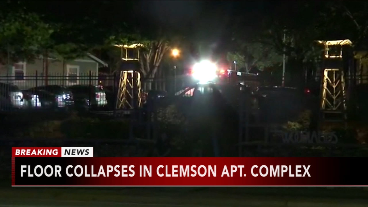 Floor collapses in Clemson Apartment Complex: as seen on Action News at 6 a.m., October 21,2018