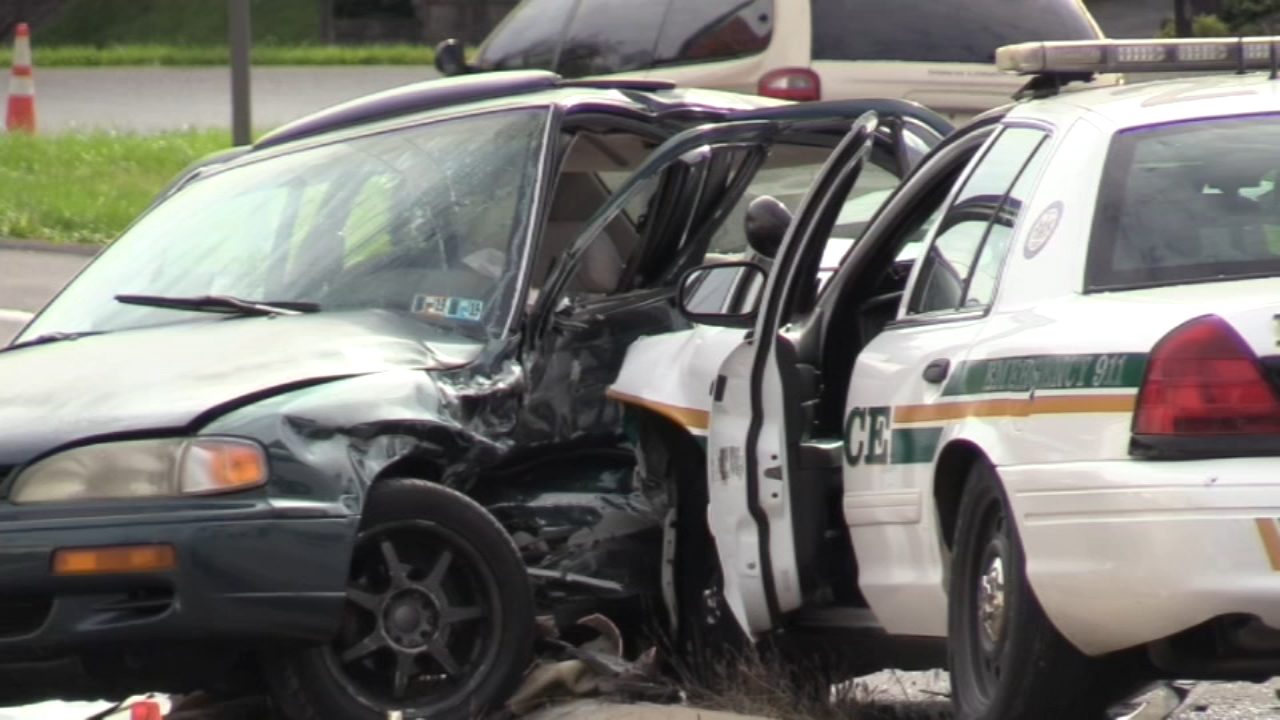 Coroner called to crash involving police outside Pennsylvania mall. Watch this report from Action News at 4:30pm on October 22, 2018.