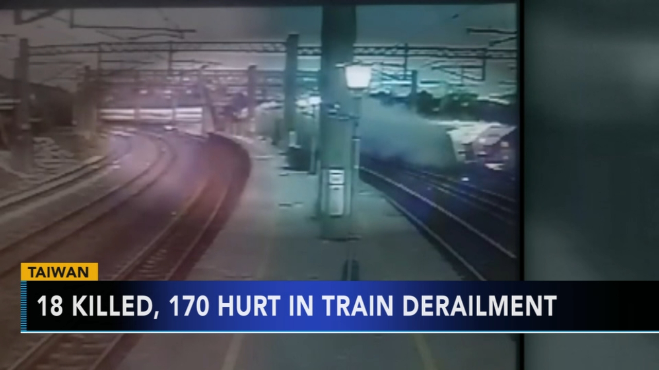 Deadly train derailment in Taiwan. Tamala Edwards reports during Action News Mornings on October 22, 2018.