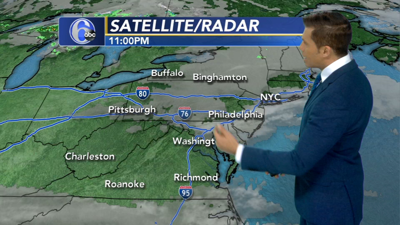 Adam Joseph with AccuWeather on Action News at 11 p.m., October 22, 2018