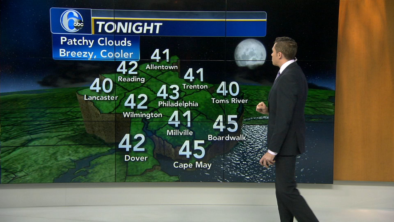 Adam Joseph with AccuWeather during Action News at 4pm on October 23, 2018.