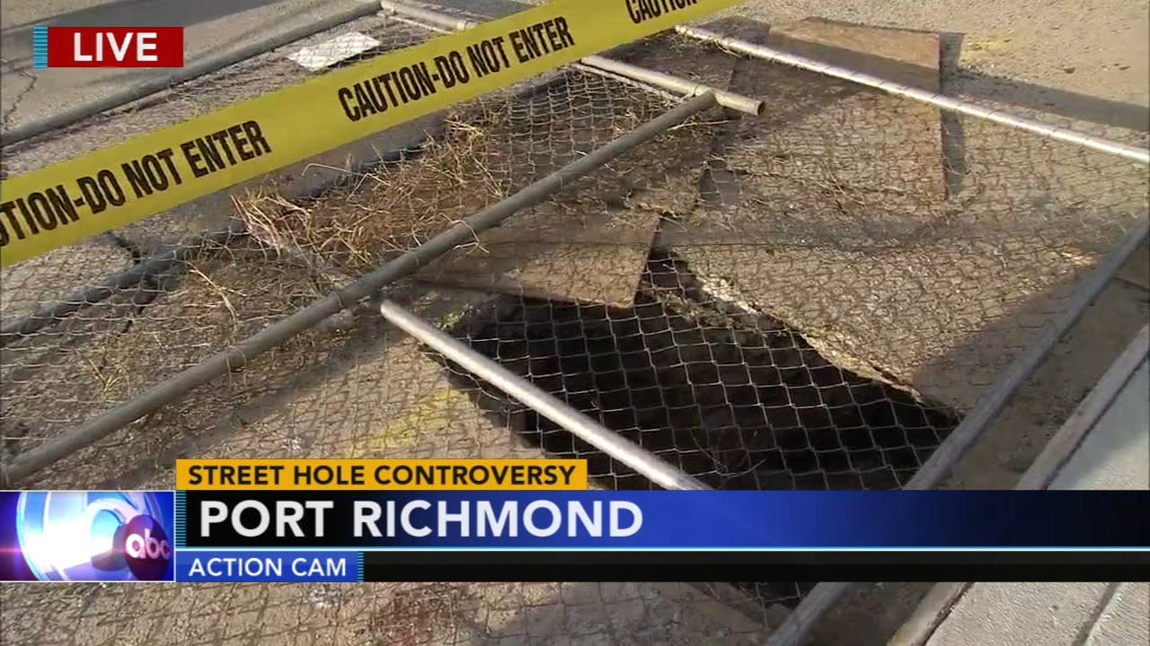Street hole controversy in Port Richmond: Vernon Odom reports on Action News at 5 p.m., October 23, 2018
