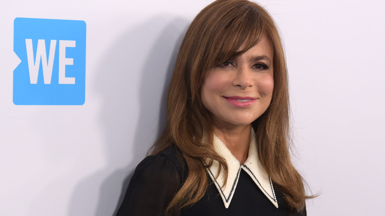 Paula Abdul arrives at WE Day California at The Forum on Thursday, April 19, 2018, in Inglewood, Calif.