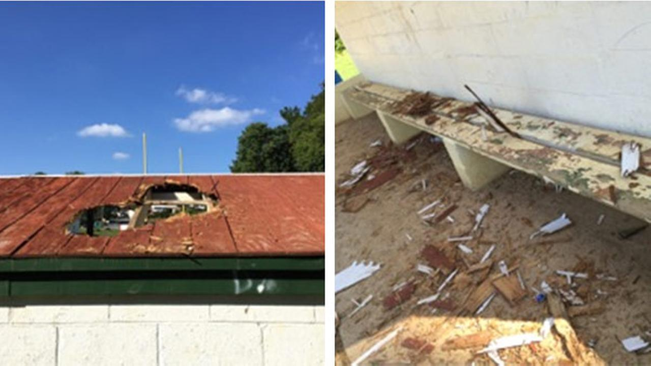 Vandals damage dugouts at Ridley Township park