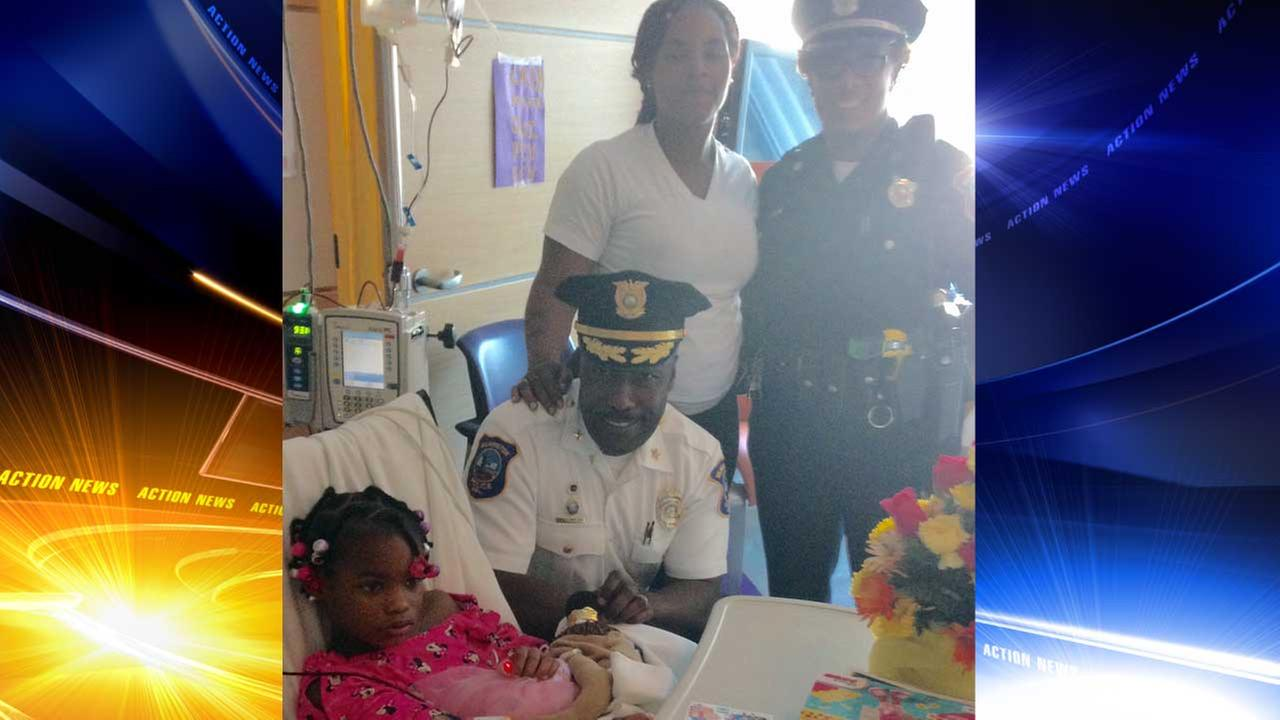Wilmington police visit 6-year-old shooting victim in hospital