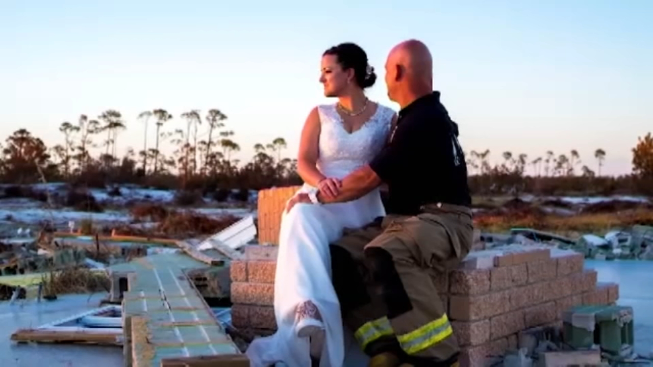It wasnt at all how they had pictured their October wedding, but one Florida couple made it work.