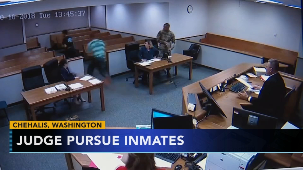 Judge chases after inmates. Matt ODonnell reports during Action News Mornings on October 24, 2018.