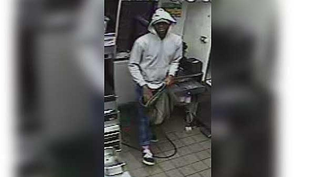 Police are looking for a suspect who burglarized a fast-food restaurant in South Philadelphia.