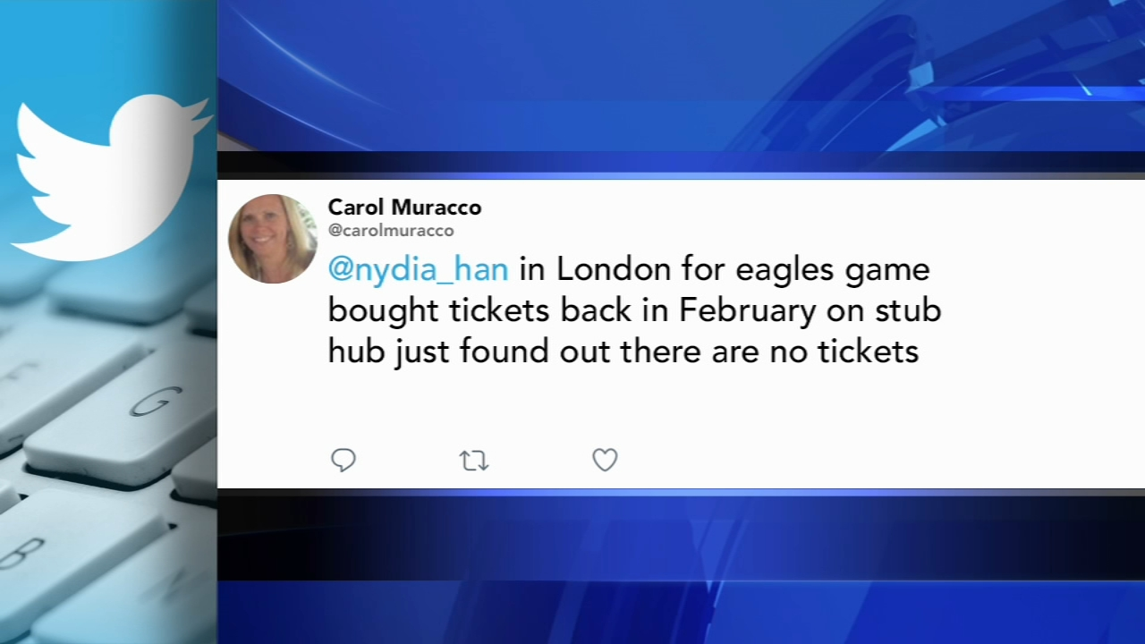 Troubleshooters help Eagles fans in London after StubHub ticket cancellation: Nydia Han reports during Action News at 4:30pm on Octobet 25, 2018.