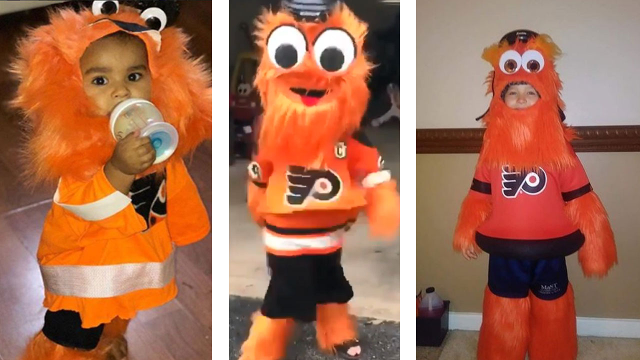 Gritty became an overnight sensation after his debut in September. Now, trick-or-treaters across the area are dressing up as the famed Flyers mascot for Halloween.