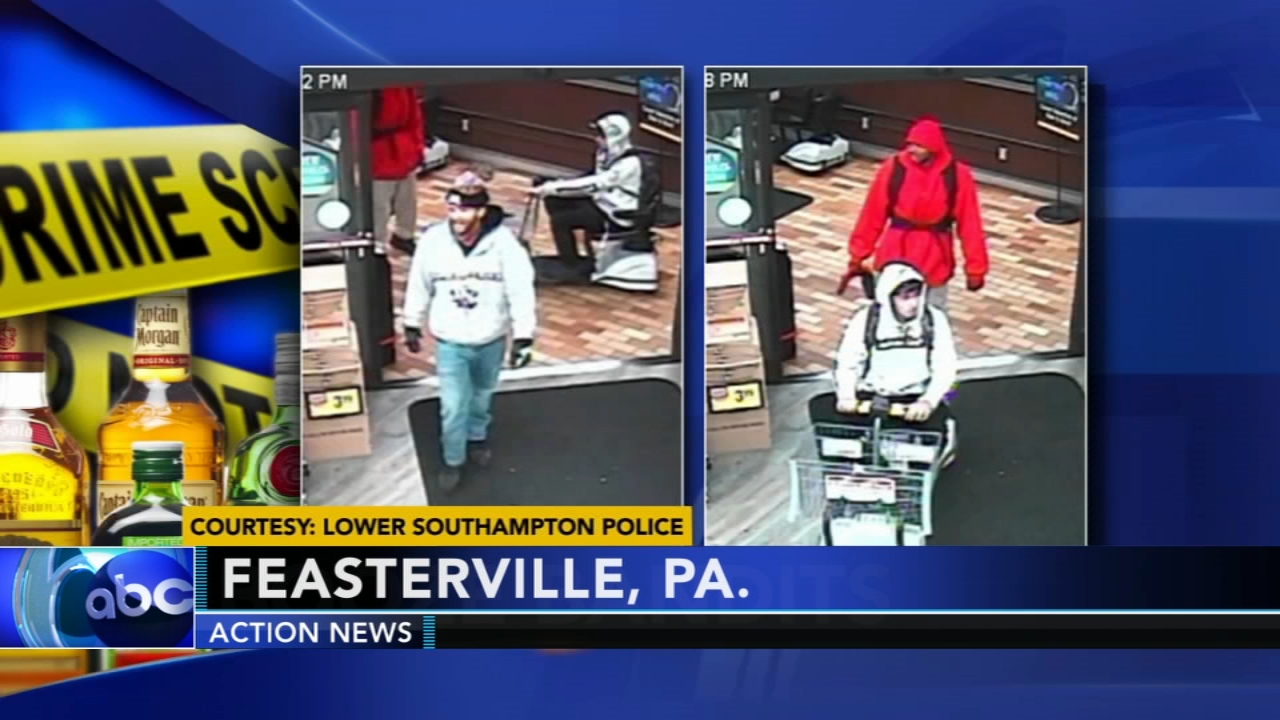 Trio use scooter to steal alcohol, beef jerky from Bucks Co. Acme. Matt ODonnell reports during Action News Mornings on October 25, 2018.