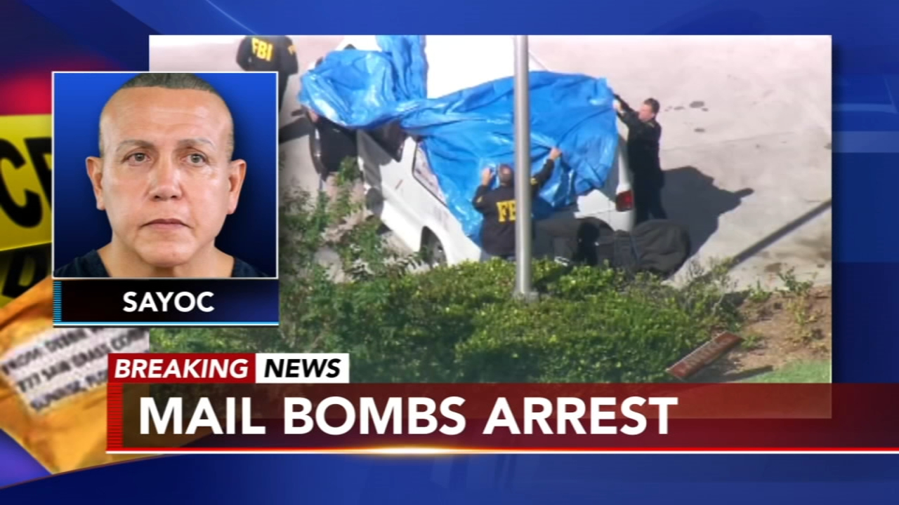 Florida man taken into custody in suspicious packages case. Watch this report from Action News at 4pm on October 26, 2018.