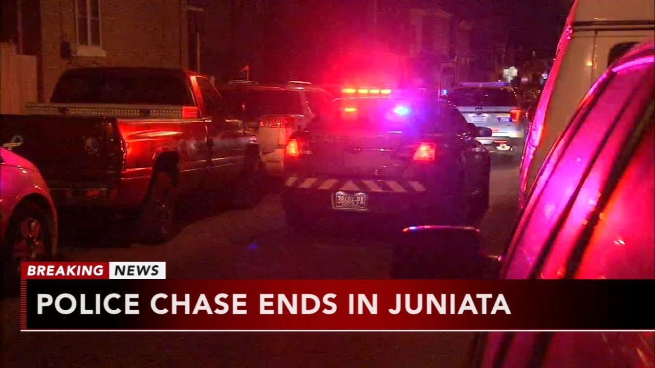 Police chase ends in Juniata. Matt ODonnell reports during Action News Mornings on October 26, 2018.
