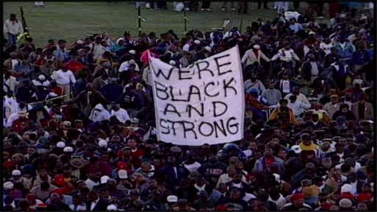 Black men gathering for Million Man March 20th anniversary