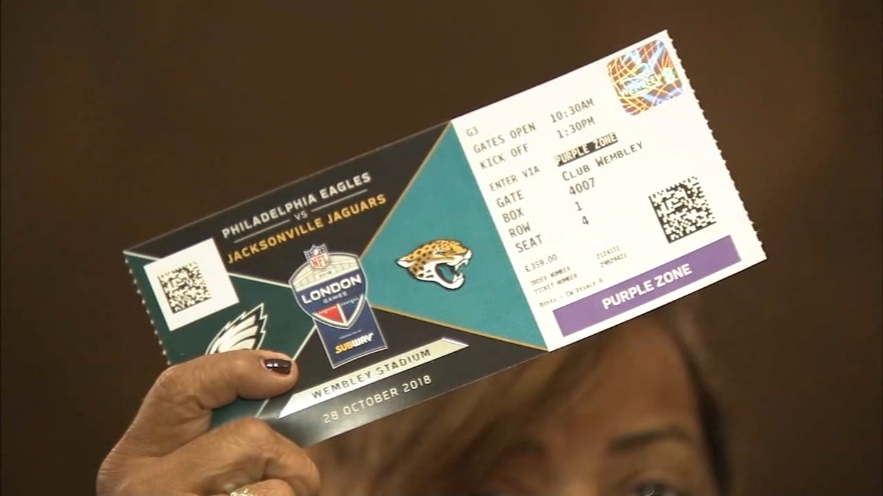 Philadelphia Eagles fans hoping to bring home-field advantage to London. Sharrie Williams reports during Action News at 7pm on October 27, 2018.