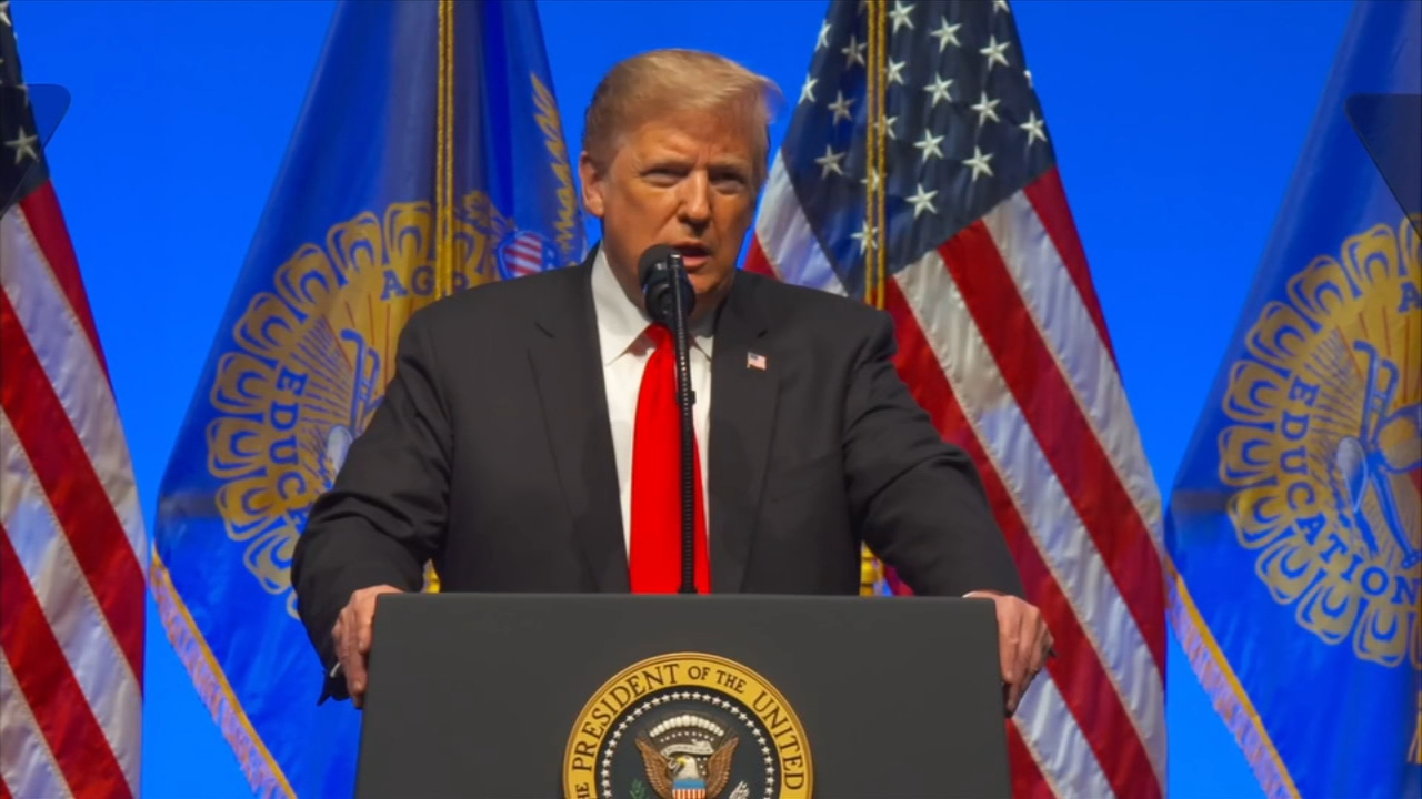 President Trump reacts to Pittsburgh synagogue shooting during an event in Indiana on October 27, 2018.