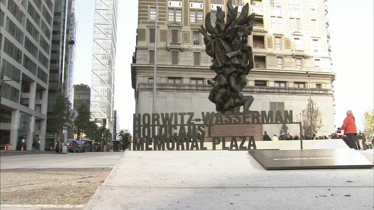 Holocaust Memorial Plaza opens up on the Benjamin Franklin Parkway. Watch the report from Action News at 6:30 a.m. on October 28, 2018.