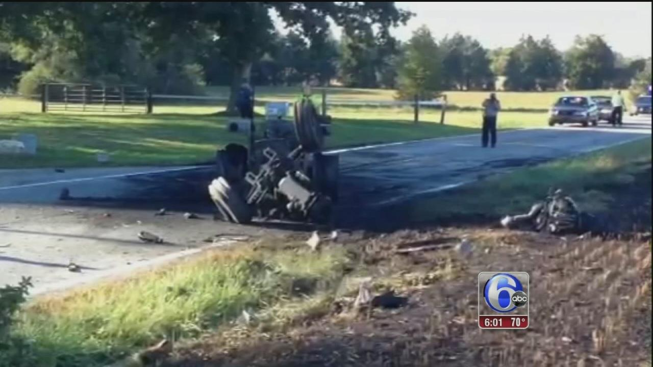 VIDEO: Motorcyclist killed in Townsend, Del. collision