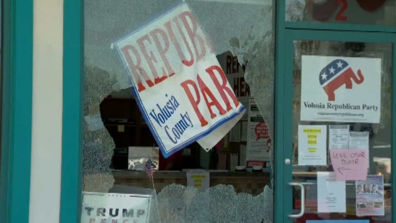 Police: Drive-by shooting shatters windows at GOP headquarters in Florida. Matt ODonnell reports during Action News Mornings on October 30, 2018.