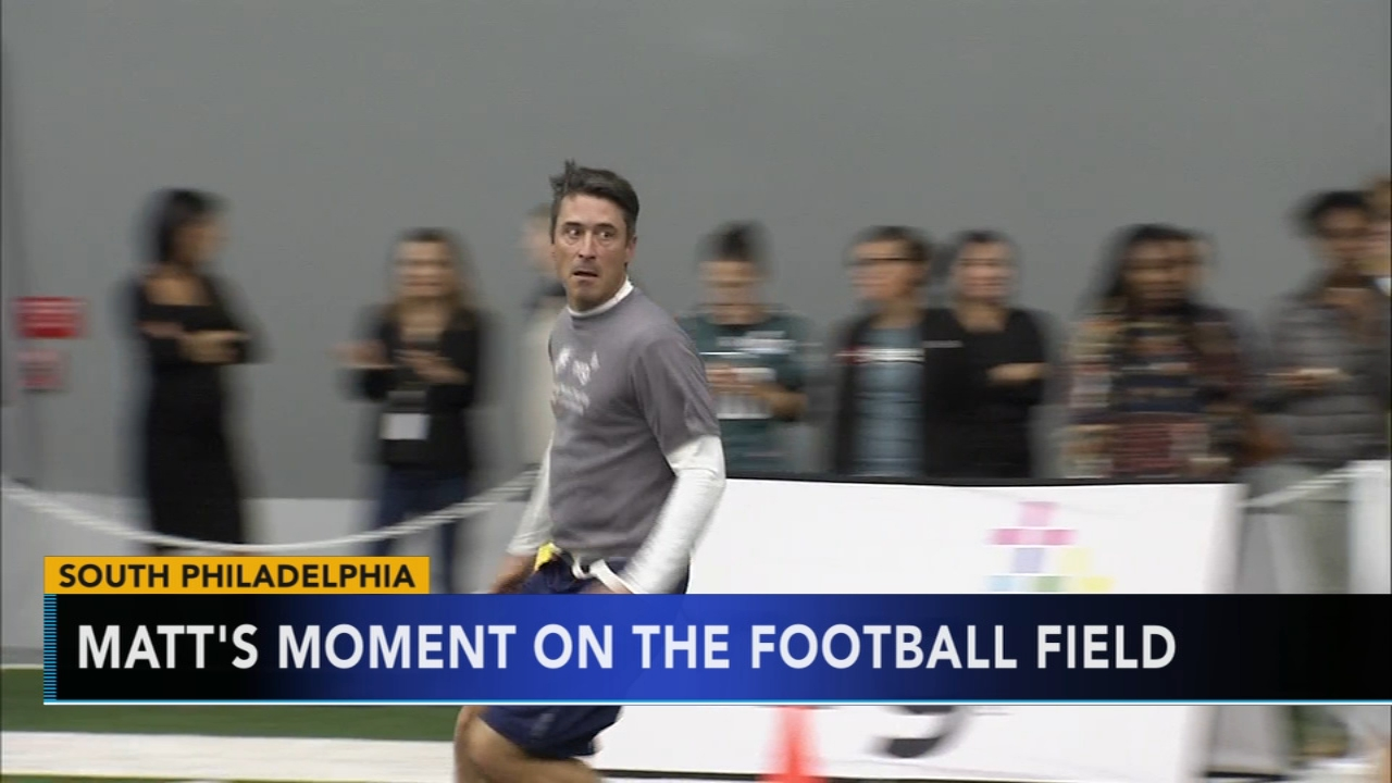 Matt ODonnell takes the football field for charity. Report during Action News Mornings on October 30, 2018.