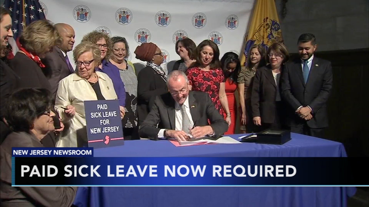 N.J. companies required to provide paid sick leave. Matt ODonnell reports during Action News Mornings on October 30, 2018.