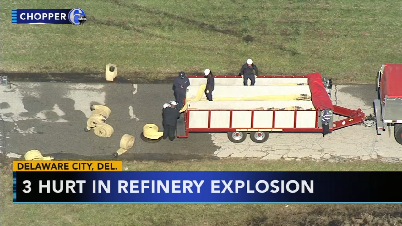 3 workers hurt in refinery blast in Delaware City. Brian Taff reports during Action News at 4:30 p.m. on October 30, 2018.