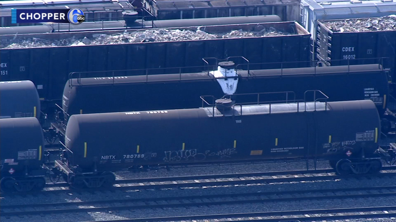 Firefighters respond to hazmat situation at South Philadelphia rail yard. Watch this report from Action News at Noon on October 31, 2018.